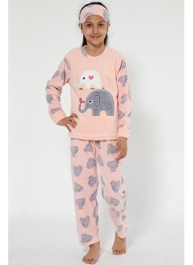 Akbeniz Welsoft Çocuk Pijama Takım Pembe